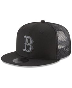 a2a9479245f New Era Boston Red Sox Blackout Mesh 9FIFTY Snapback Cap   Reviews - Sports  Fan Shop By Lids - Men - Macy s