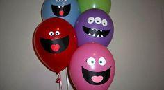Que tal dar uma decorada em seus balões? Vamos transformar os balões em monstros!!!! Mas vamos com calma pessoal!. Não são monstros que assustam mas monstros que são bonitinho. A proposta desta ati…
