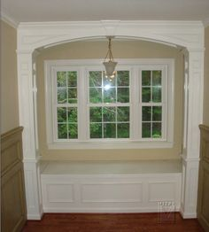 I like the wainscoting that was done in this pic.  Possible idea for my foyer.