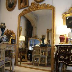 h 196 cm grand miroir decor masque feuille d 39 or xixe mirrors pinterest miroirs anciens. Black Bedroom Furniture Sets. Home Design Ideas