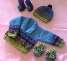 Há algum tempo fiz um casaquinho de bebê para um garotinho, a pedido de uma amiga. O tempo foi passando e o garotinho está se tornando um... Knitting For Kids, Baby Knitting, Crochet Baby, Knit Crochet, Baby Cardigan, Crochet Squares, Garter Stitch, Sewing, Chanel