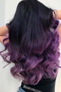 Image result for purple streaks in dark hair