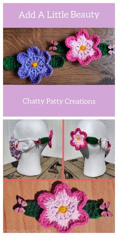 Ear Savers For Masks Diy - Tdesign Crochet Mask, Crochet Faces, Free Crochet, Crochet Girls, Sewing Patterns Free, Knitting Patterns, Crochet Patterns, Pattern Sewing, Diy Mask