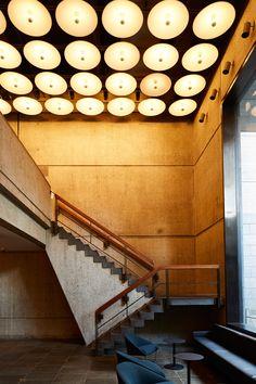 The Flora restaurant and coffee bar in the Met Breuer museum | Marcel Breuer | Renovation : Beyer Blinder Belle (BBB)