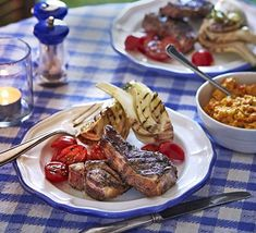 Marinated grilled lamb cutlets with creamed corn recipe | BBC Good Food Lamb Recipes, Dinner Recipes, Bbq Lamb, Creamed Corn Recipes, Grilled Lamb, Lamb Dishes, Plum Tomatoes, Bbc Good Food Recipes