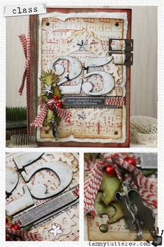 """Book embellished with """"25"""" ribbon & sheet music"""