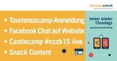 Immer wieder TZonntags, 6.9.2015: Tourismuscamp #tce16, Google Logo, Facebook-Chat für Websites, Castlecamp 2015 live, Arbeit 4.0, Snack Content