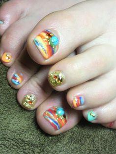 Toe Nail Art, Toe Nails, Asian Nails, Cute Pedicures, Toe Nail Designs, Pretty Nails, Beauty, Nailart, Art Ideas