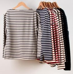 saint james striped meridien shirts - want them all