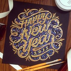 Happy New Year #calligraphy #lettering #ypography