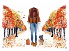 """""""Happy (most likely late) Fall!"""" by current-mood ❤ liked on Polyvore featuring H&M, Skechers and Pottery Barn"""
