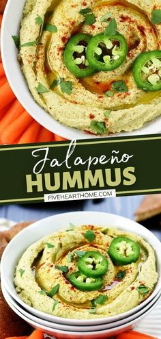 Try giving a zippy kick to a classic appetizer on game day! Not only is this copycat recipe for Jalapeño Hummus quick and easy to make at home, but the ultimate flavor is up to you. Serve this healthy, delicious food idea with pita wedges or your favorite raw veggies! Easy Delicious Recipes, Spicy Recipes, Delicious Food, Real Food Recipes, Jalapeno Recipes, Healthy Recipes, Simple Recipes, Healthy Options, Yummy Appetizers