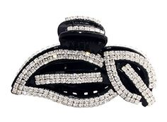 JCPeniel Elegant Style Large Size Fancy Rhinestones Claw ClipJaw Clips Black ** Check out this great product.(This is an Amazon affiliate link and I receive a commission for the sales)