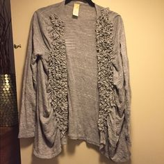 C. Keer for Anthropologie ruffled cardigan Anthropologie ruffled cardigan in great condition Anthropologie Sweaters Cardigans