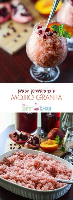 peach pomegranate mojito granita peach pomegranate mojito granita made ...