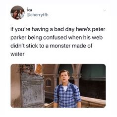 Peter Parker, for the most part, is your average teenager. He had his own daily routine that never seemed to break. That is until one fateful day where he simply typed in the wrong number. Who knew that would completely change his life? Marvel 3, Marvel Jokes, Avengers Memes, Marvel Funny, Wrong Number, Tom Holland, Marvel Cinematic Universe, Funny Memes, Textbook