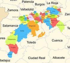 Comunidades-Villa y Tierra - Realengo - Wikipedia, la enciclopedia libre Spain History, Culture, Medieval, Places, Maps, Europe, Cities, Earth, I Love
