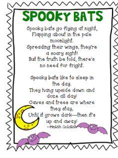 Spooky Bats Poem