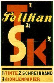 Cartel 1930 El Lissitzky para equipos de oficina Pelikan