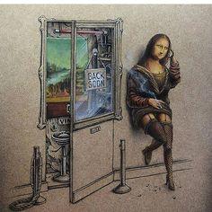Money Lisa By pezartwork _ #creative_display_