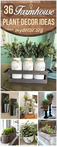 Spring is definitely the most anticipated time of year for me. I�ve spent the last few years overhauling our farmhouse flower garden landscaping with plants that feel like they belong in our farmhouse setting. These farmhouse plant decor ideas, These farmhouse plant decor ideas; The pop of c...