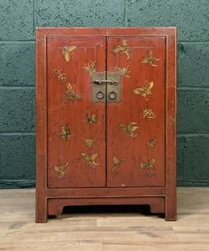Decorative Chinese Side Cabinet - Antiques Atlas Chinese Cabinet, Antique Chinese Furniture, Cabinet Furniture, Mid-century Modern, Original Paintings, Dining Room, Mid Century, Bronze, Antiques