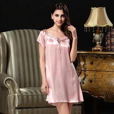 Women's Silk Nightgowns Silk Nighties Silk Sleepwear for Women S263