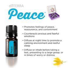 doTERRA Peace Reassuring Blend with floral and mint essential oils creates a positive reminder you don't have to be perfect to find peace. Diffuse or apply topically to experience the blend's sweet, rich, minty aroma.  Click here to learn more about Peace: www.doterrablog.com/doterra-peace-reassuring-blend-essential-oil-spotlight
