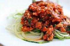 Sachen die glücklich machen: Zucchini Spaghetti mit Räuchertofu-Bolognese (LOW ...