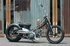 #praboejazz#streetcub#tedjo Custom Moped, Custom Bobber, Custom Bikes, Bike Cart, Build A Bike, Honda Cub, Trike Motorcycle, Cafe Bike, Pit Bike