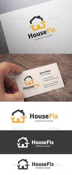 House Fix Logo Template #design #logotype Download: http://graphicriver.net/item/house-fix/11152857?ref=ksioks