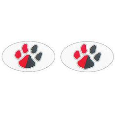 Show your team spirit when you sport two-tone black and red eyeblacks!