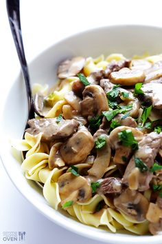 Beef Stroganoff ~ This 30-minute easy beef stroganoff recipe is comfort food at its best!