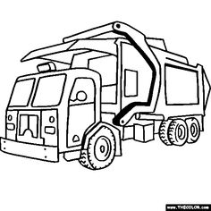 Transportation: School Buses and Trash Trucks | Colouring ...