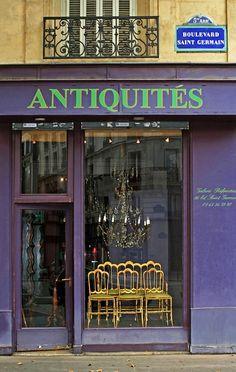 Antic boutique on boulevard St Germain, Paris 5e