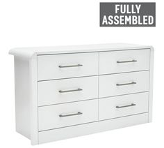 Buy Heart of House Elford 6 Drawer Chest - White at Argos.co.uk - Your Online Shop for Chest of drawers, Bedroom furniture, Home and garden.