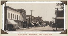 MORROW COUNTY - Ohio Genealogy Trails - Main Street, Cardington, OH