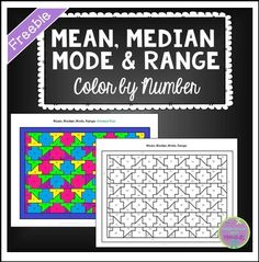 "The Best of Teacher Entrepreneurs: FREE MATH LESSON - ""Mean, Median, Mode & Range Color by Number"""