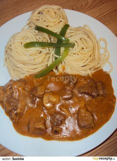 STROGANOFF PODLE DĚDY ŠFKUCHAŘE Top Recipes, Quick Recipes, Meat Recipes, Vegetarian Recipes, Cooking Recipes, Czech Recipes, Ethnic Recipes, Good Food, Yummy Food