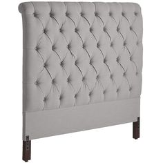 Audrey Ii Upholstered Pewter Queen Headboard