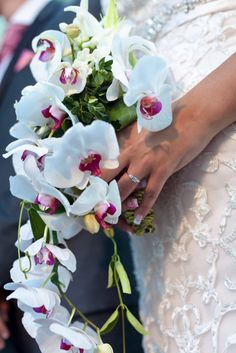 My bridal bouquet - orchid, jasmine, lillies :  wedding bouquet bridal jasmine lillies lilly orchids 255