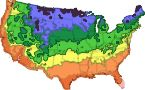 How to find your Gardening Zone - just put in your Zipcode - The Plant Hardiness Zones divide the United States and Canada into 11 areas based on a 10 degree Fahrenheit difference in the average annual minimum temperature. (The United States falls within Zones 2 through 10).