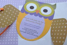 free owl invitations | Free Party Invitation Templates: Unique Owl Invitations