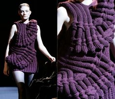 Nothing found for Fashion Theory Articles Sandra Backlund Kollektsiya Neobychnykh Vyazanykh Platev Last Breath Bruises Knitwear Fashion, Knit Fashion, Conceptual Fashion, Sandra Backlund, Knitting Designs, Knit Dress, Knit Crochet, Designer Knitwear, How To Wear