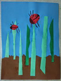 Miss Young's Art Room: Kindergarten Ladybugs in the Grass