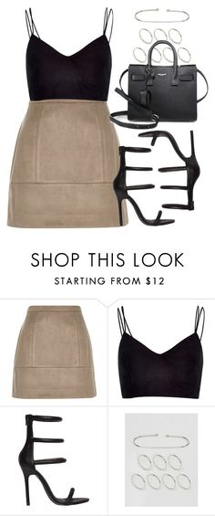 """""""Style #11356"""" by vany-alvarado ❤ liked on Polyvore featuring River Island, Nasty Gal, ASOS and Yves Saint Laurent"""