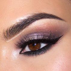 smokey purple makeup