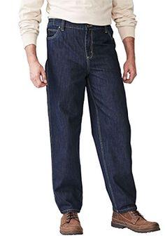 Boulder Creek by Kingsize Men's Big & Tall Relaxed Carpenter Jeans - Big - 50 Indigo Mens Big And Tall, Big & Tall, Boulder Creek, Tall Jeans, Carpenter, Indigo, Dark, Fit, Clothing