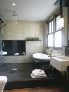 Japanese design goes well with craftsman lines so remember this for bathroom