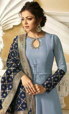 fashion dresses Source by dresses indian Silk Kurti Designs, Salwar Neck Designs, Kurta Neck Design, Neck Designs For Suits, Kurta Designs Women, Dress Neck Designs, Kurti Designs Party Wear, Churidhar Neck Designs, Stylish Dress Designs